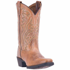 Laredo Womens Tan Cowboy Boots Leather Cowboy Boots Square Toe