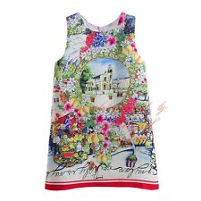 Girl Flower Print Party Dress Kids Sleeveless Fashion Pageant Holiday Sundress