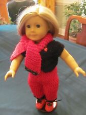 American Girl Doll set. Pants, top, hat, scarf and roller blades