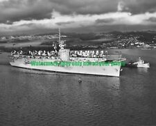 USN Escort Carrier USS CAPE ESPERANCE CVU-88 Black n White Photo  Military