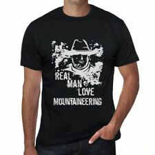 Mountaineering, Real Men Love Mountaineering Mens T shirt Black Birthday Gift