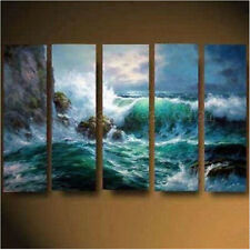 Wall Decor Oil Painting 5PC Modern Abstract Huge On Wall Art Canvas Framed