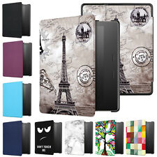 Pattern Magnetic Folio Leather Case Cover For All New Amazon Kindle Oasis 7'' PC