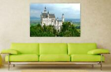Canvas Poster Wall Art Print Decor Neuschwanstein Castle Summer