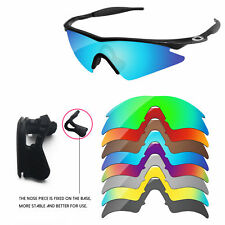 Nose Piece + Polarized Replacement Lenses For-Oakley M Frame Sweep -Options