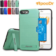 ApooDr Shockproof Protective Wallet Cover Kickstand Armor Case iphone 7 / 7 Plus