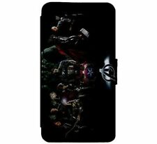 Marvel DC Avengers CharactersLeather Flip Phone Case for iPhone & Samsung D4