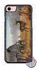 Country White Tail Deer Barn Tractor Phone Case Cover for iPhone 7 Samsung retc