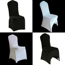 50/100X Removable CHAIR COVERS Wedding Banquet Party Spandex Lycra ARCHED FRONT