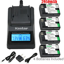 Kastar 4 Battery & Fast Charger kit for Canon LP-E6 LP-E6N LPE6 LPE6N LC-E6