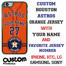 Custom Houston Astros Orange Jersey Phone Case with Your Name & # for iPhone