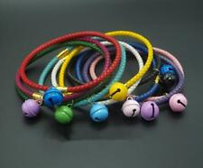 Leather weave Small Dog Puppy Cat Collars with Colored Bell Cute for Kitty