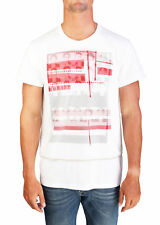 Dior Homme Men's Dual Layered Graphic Jersey T-Shirt White