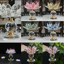 Crystal Block Lotus Flower Big Tealight Candle Stand Holder Candlesticks