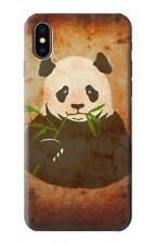 S2759 Panda Eat Bamboo Vintage Texture Case for IPHONE Samsung Smartphone ETC