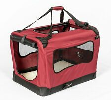 2Pet Foldable Dog Crate, Soft Padded, Easy Carry, Travel Kennel, Cage, Carrier