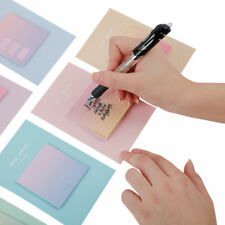 30-Page Rainbow Gradient Color Self Adhesive Memo Pad Office Desk Sticky Note