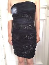 SASS BNWT Petite Aus Size 6 & 8 Black strapless Cocktail Dress