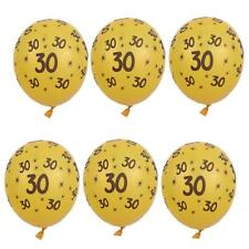 10x Gold Latex Balloons 30th 40th 50th Birthday Anniversary Party Decor