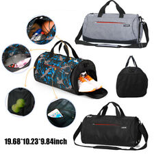 Fashion Large Men's Sports Travel Luggage Shoulder Bag Tote Gym Overnight Duffle
