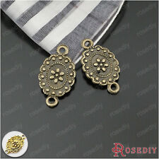 50PCS 18*10MM Alloy Flower Connector Charms Jewelry Findings Accessories 23372