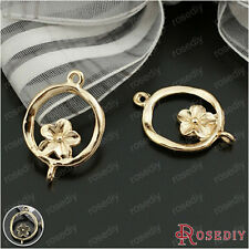 50PCS 15MM Alloy Flower Connector Charms Jewelry Findings Accessories 23707
