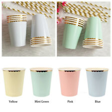 8pcs/Set Party Hot Birthday Disposable Tableware Paper Cups Wedding Supplies