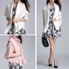 Casual Women Long Bat Sleeve Knitted Sweater Tops Knitwear Cardigan Jacket Coat