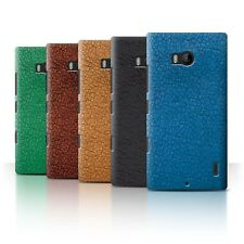 STUFF4 Back Case/Cover/Skin for Nokia Lumia Icon/Leather Patch Effect