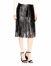 Vince Camuto Women's Pleather Fringe Tiered Skirt - Choose SZ/Color