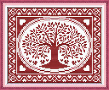 The oval happiness tree cross stitch kits 18ct 14ct 11ct counted print fabric