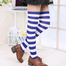 Over the Knee Socks Striped Fashion Stockings Cotton Thigh High Stocking Women