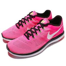 Wmns Nike Flex 2016 RN Run Pink Black Womens Running Shoes Trainers 830751-600