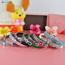 Leather 10MM PERSONALIZED Dog Pet Puppy Cat Collar with FREE Letters