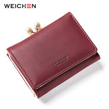 Ladies Short Wallets Money Purses Fold Leather Bags Female Hasp Coin Purse Gift