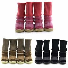 US 4PCS Pet Dog Winter Warm Snow Boots Puppy Anti-slip Shoes Booties Sneakers