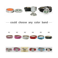 PU Leather Mix Color Wristbands for Aromatherapy  Locket  Essential Oil Diffuser