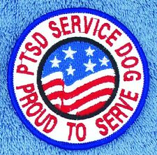 """PTSD Service Dog Proud To Serve Patch 3"""" Medical Assistance Support Danny LuAnn"""