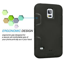 Hybrid Rubber ShockProof Protective Hard Case Cover For Samsung Galaxy S5 i9600