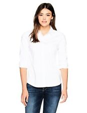 A|X Armani Exchange Women's Classic Long Sleeve Woven Button Down Blouse