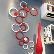 Indoors Decor Circles Stereo Removable 3d Art Wall Stickers Poster Home Decor