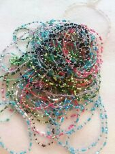 Crystal bicone beads and Glass seed beaded Stretchy Bracelets