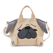 Lovely Dog Bag For Girls Corduroy Handbag Women Cute Shoulder Bag Casual Tote