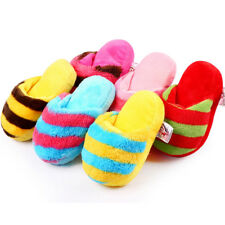 Hot Funny Dog Pet Cat Toy Puppy Chew Squeaker Squeaky Plush Sound Slipper Toys