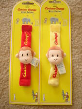 Curious George Monkey Wrist Rattles Baby Red Or Yellow, Choose 1 Only
