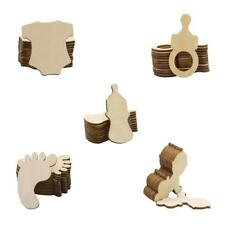 10pcs Wooden Baby Shower Wooden Cutout Tags DIY Craft Scrapbooks Embellishments
