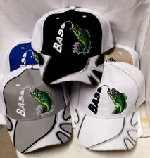 Bass , Fishing , Embroidered Adjustable Adult Ball Cap Hat, FREE SHIPPING