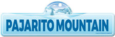 Pajarito Mountain Street Sign | Snowboarder, Décor for Ski Lodge, Cabin, House