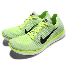 Nike Free RN Flyknit Run Yellow White Mens Running Shoes Sneakers 831069-006