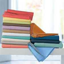 Extremely Soft 4 pc Bed Sheet Set 1000TC Egyptian Cotton All UK Size & Colors